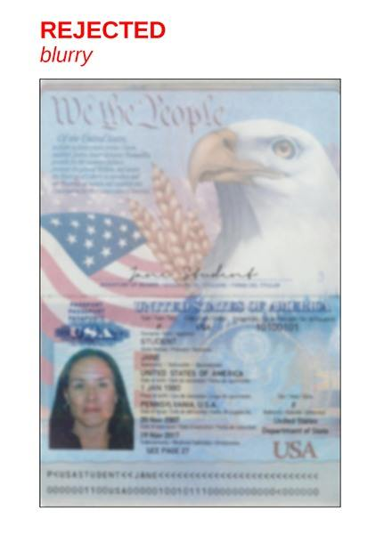 Passport Examples - EPIC, Confirming Your Identity